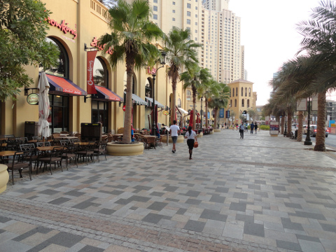 The Walk Dubai – de boulevard