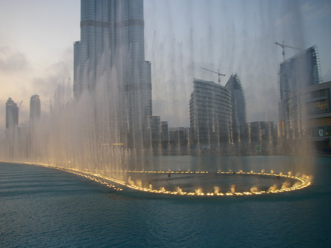 The Fountain in Burj Dubai Lake