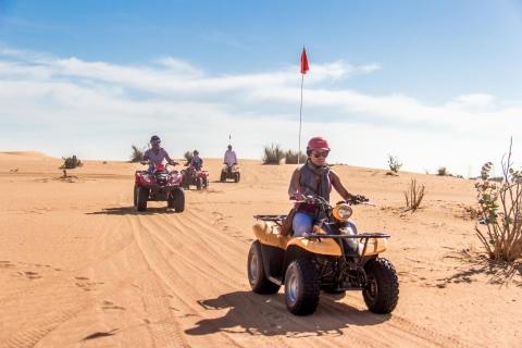 Dubai: quadsafari met barbecuediner & liveshows