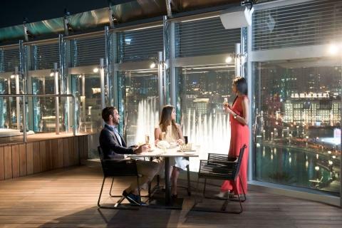 Burj Khalifa: 124e etage & lunch of diner bij de Burj Club