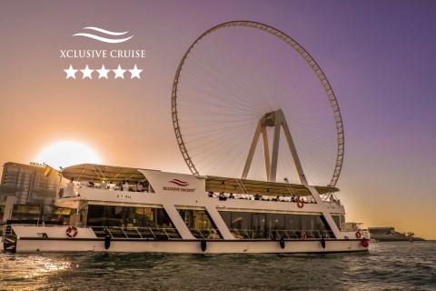 Dubai: boottocht met diner en frisdrankjes bij zonsondergang