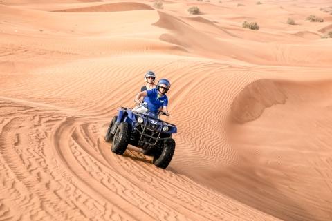 Dubai: kustexcursie met quad-rit in duinen, kamelenrit, BBQ