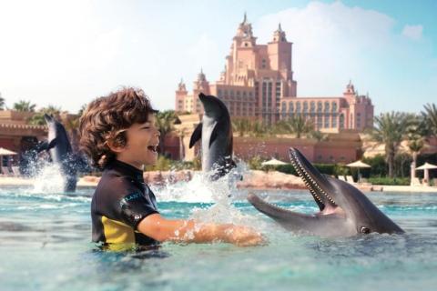 Dubai: Dolfijnen Duiken en Spelen bij Atlantis