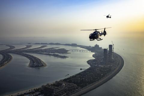 Van Palm Jumeirah: helikoptervlucht naar Expo 2020 Dubai