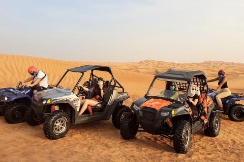 Dubai: duinbuggy en BBQ-woestijnavontuur in de avond