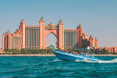 Dubai: 1,5 uur met speedboot Marina, Atlantic & Burj Al Arab