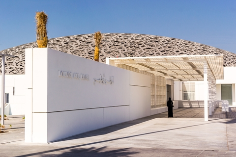 Tour vanuit Dubai: Abu Dhabi, Sjeik Zayed-moskee en Louvre