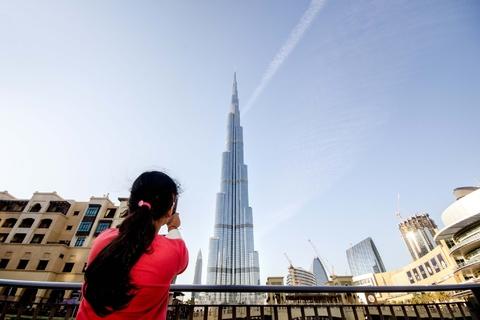 Burj Khalifa bij zonsondergang: tickets 124e & 125e etage