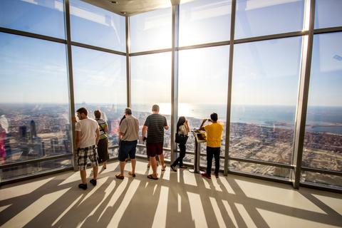 Dubai Burj Khalifa tickets zonsondergang: 124e & 125e etage