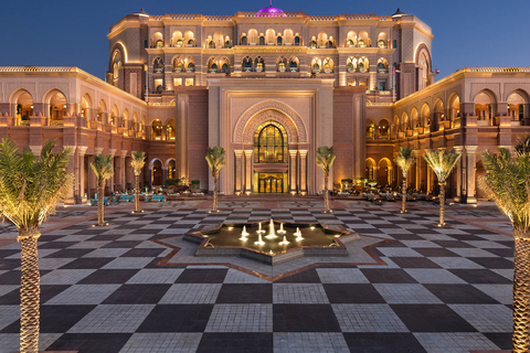 Sjeik Zayed-moskee & koffie in Emirates Palace