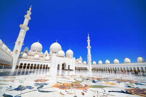 Sheikh Zayed Moskee met een professionele fotograaf