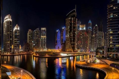 Dubai Marina en Atlantis: Private Night Yacht Cruise