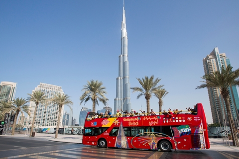 Dubai: 24-uurs hop on, hop off-bustour en Dubai Aquarium