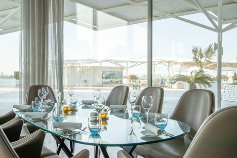 Burj Al Arab: Franse mediterrane lunch of diner in Scape