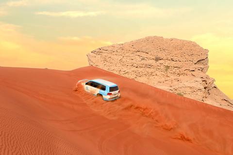 Dubai: Fossil Rode Duinen & safari Camel Rock met BBQ