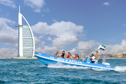 Dubai: 1,5 uur met speedboot Marina, Atlantis & Burj Al Arab