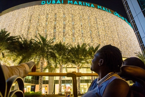 Dubai: hop on, hop off-sightseeingtour in de avond
