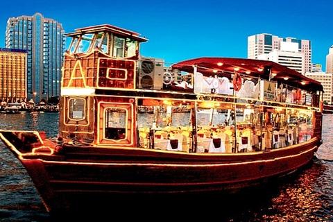 Dubai: 2-uur durende avondrondvaart op dhow met diner