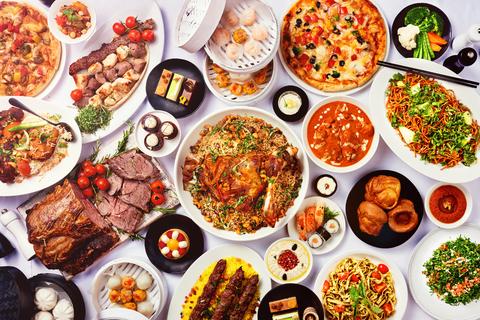 Dubai: lunch of diner bij Kaleidoscope in Atlantis the Palm