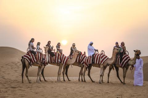Dubai: kamelentocht bij zonsopgang met ontbijt