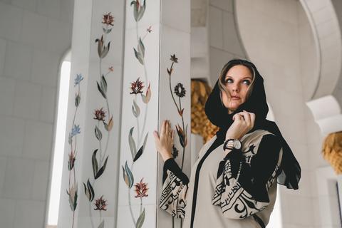 Dubai: Rondleiding Grote moskee Sheikh Zayed met fotograaf