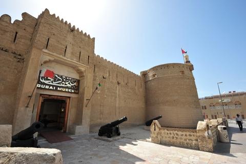 Dubai: iconen - Dubai Museum, Goudsouk en watertaxi