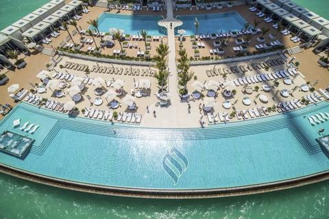 Burj Al Arab: zwembad & 3-gangenlunch voor 2 bij Scape