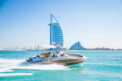 Dubai Marina: privéboottocht & Palm Jumeirah sightseeing