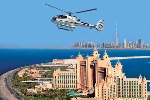 Dubai helikoptervlucht vanaf The Palm naar Burj Khalifa