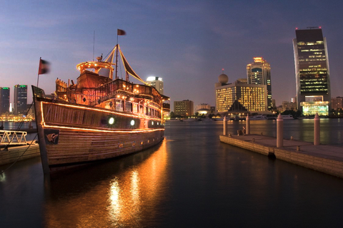 Dubai: Deira Creek Dhow Cruise met 5-sterren dinerbuffet