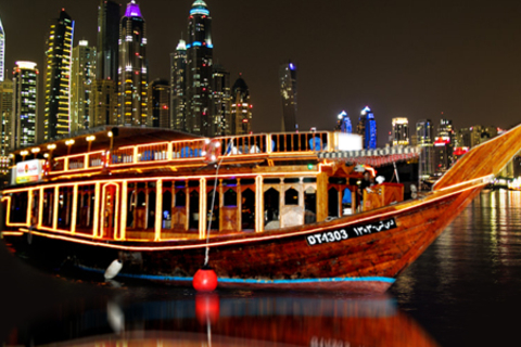 Dubai Marina: Half-Day Dhow Dinner Cruise met Transfer