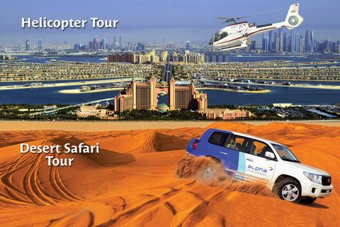 Dubai 6 uur Helikopter en Desert Safari Combo Tour