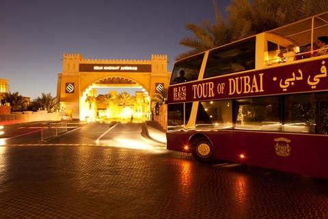 Dubai: panoramische nachttour met toeristenbus