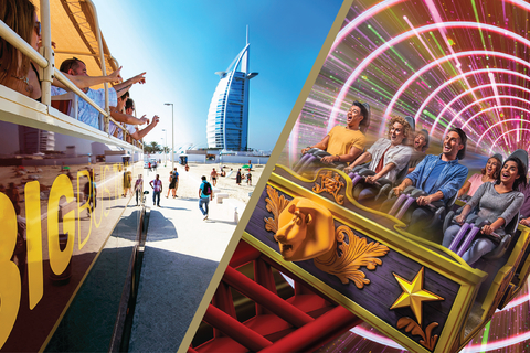 Dubai: Motiongate Themapark en hop on, hop off-buscombo