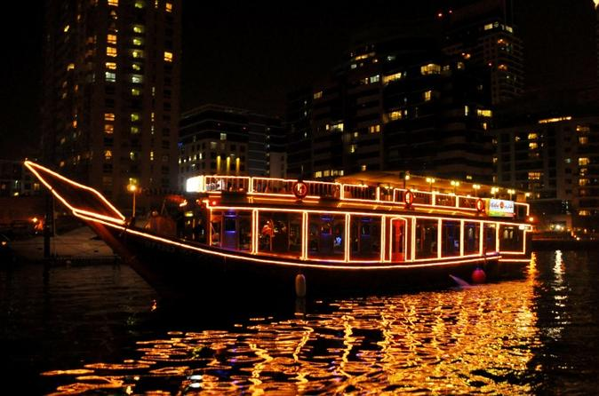 Dinercruise in een dhow over Dubai Creek