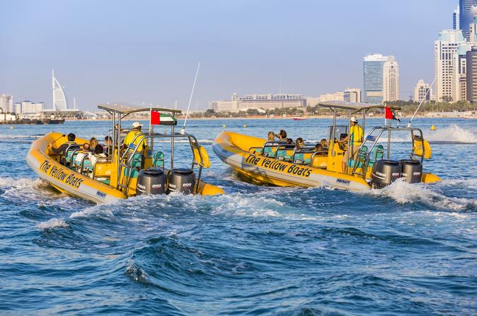 Dubai bootcruise per ribboot: Palm Jumeirah en Dubai Marina
