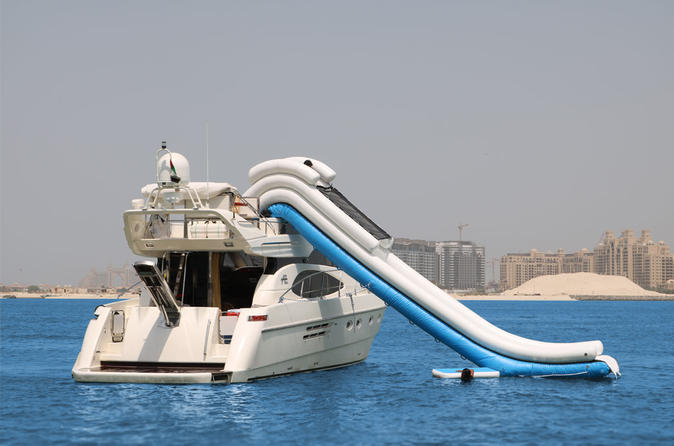 Dubai Luxury Yacht Charter With Yacht Water Slide