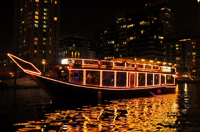 Dubai Marina Dhow Dinner Cruise with Round-Trip Transfers