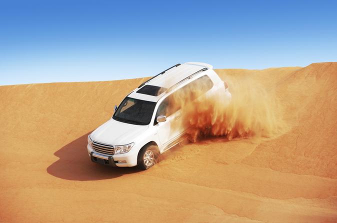 Dubai Super Saver: met een 4x4 naar een woestijnkamp en dinercruise in een dhow
