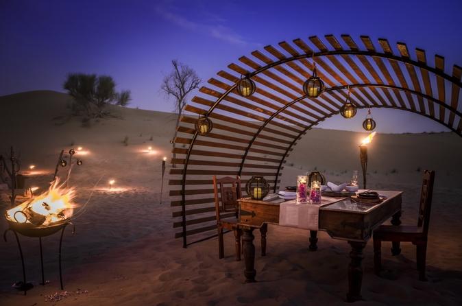 Luxe diner in de woestijn