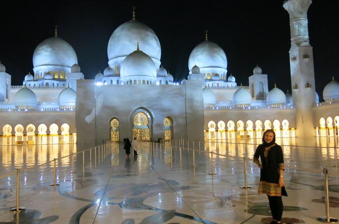 Ferrari World Theme Park and Grand Mosque Abu Dhabi