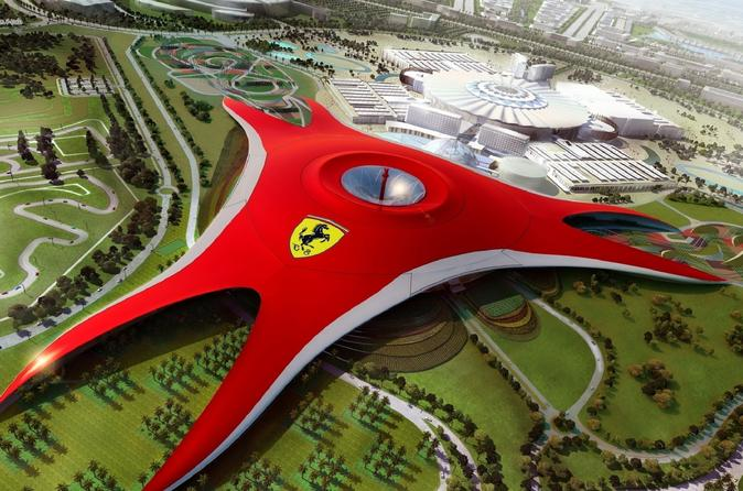 Full-Day Guided Shiek Zayed Mosque and Ferrari World Tour from Dubai with Transfers