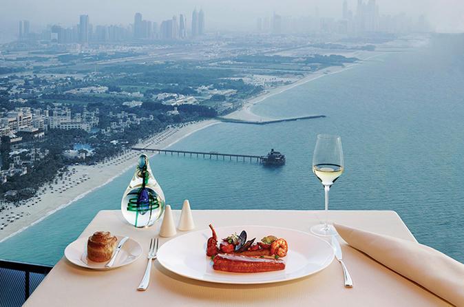 Lunch in het Al Muntaha in Burj al Arab met privévervoer