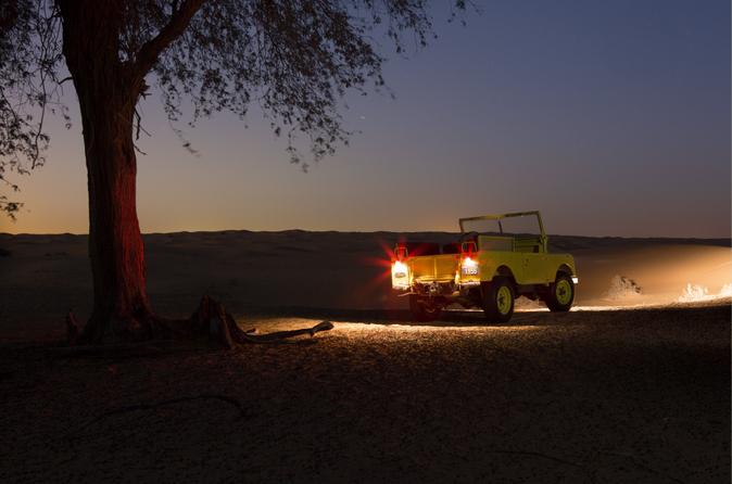 Privétour: luxe avondsafari in de woestijn met transport vanuit Dubai