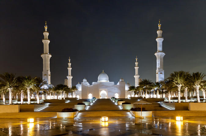 Stadstour van Abu Dhabi: de Sjeik Zayed-moskee, Emirates Palace, Marina Mall