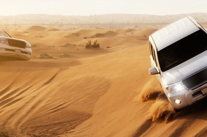 Thrilling Dubai Desert Dune Bashing On Red Dunes Including Dinner Buffet