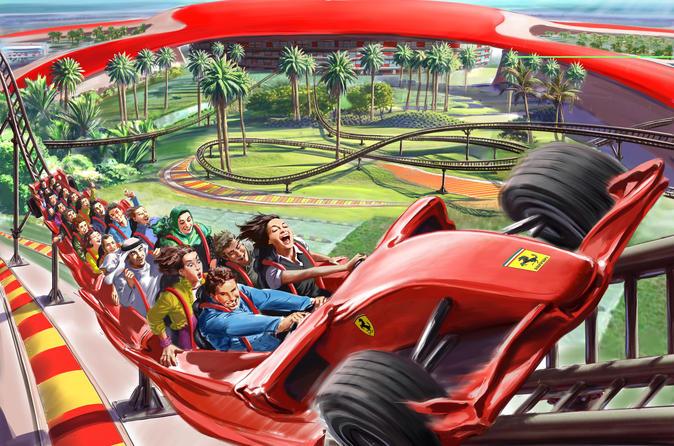 Ferrari World met vervoer