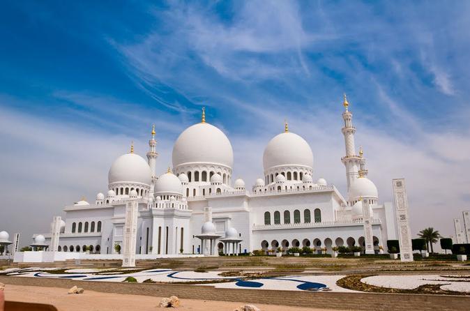 Tour naar de Grote Moskee en Ferrari World vanuit Dubai