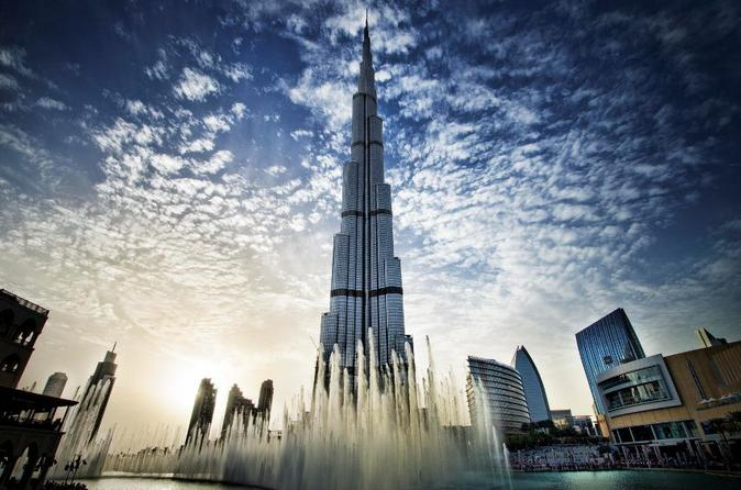 TOUR: 124ste verdieping Burj Khalifa + diner bij zonsondergang + safari en zandboarden