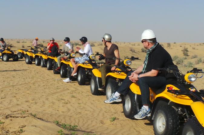 Zelf rijden met woestijnbuggy of quad